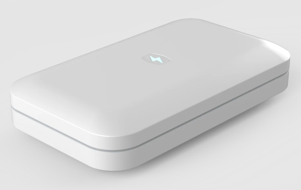 PhoneSoap 3 Smartphone UV Sanitizer in White (Phone via Phone Soap)