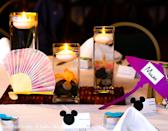 photo by:Shari Photography<br> The Mulan table was adorned with Chinese fans.