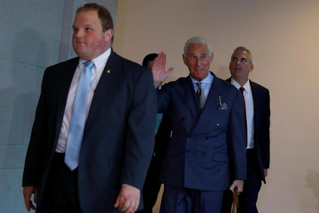 Stone arrives for a closed House Intelligence Committee meeting on Russian interference in the 2016 election, Sept. 26, 2017. (Photo: Aaron P. Bernstein/Reuters)