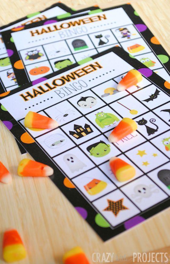 """<p>This version of Halloween bingo is just pictures, so it's great for kids of all ages (no reading required). Mark the squares with candy corns for a perfectly on-theme — and delicious — detail.</p><p><em><a href=""""https://fun-squared.com/halloween-bingo/"""" rel=""""nofollow noopener"""" target=""""_blank"""" data-ylk=""""slk:Get the printable at Fun Squared »"""" class=""""link rapid-noclick-resp"""">Get the printable at Fun Squared »</a></em></p>"""