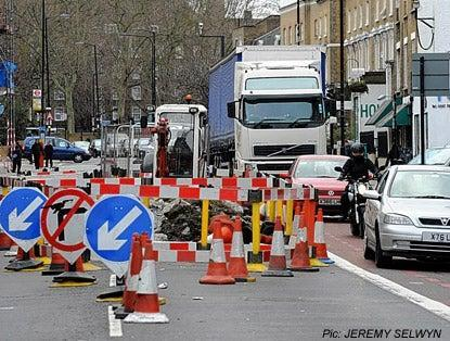 Thames Water has been fined thousands of pounds after causing chaos by setting up roadworks and traffic lights without permission (file pic) (Jeremy Selwyn/Evening Standard)