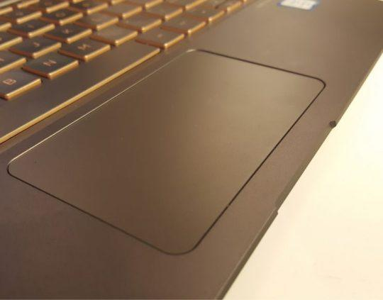 HP Spectre 13 touchpad