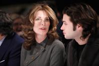 NEW YORK, NY - FEBRUARY 11: Stephanie Seymour and Peter Brant attend the Dennis Basso front row during New York Fashion Week: The Shows at Cipriani 42nd Street on February 11, 2019 in New York City. (Photo by Brian Ach/Getty Images for NYFW: The Shows)