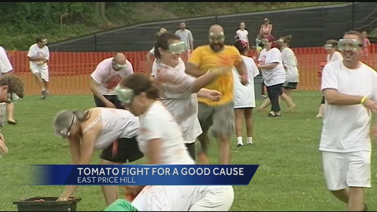 East Price Hill hosted the first La Tomatina tomato fight.  The tomato fight was the feature event for Saturday's Incline District street fair. The fair was wrapping up, but La Tomatina attracted hundreds of people to throw 4,000 tomatoes at each other.