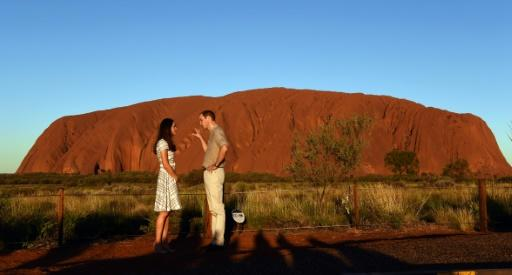Uluru is popular with foreign tourists to Australia, including Britain's Prince William, who visited with his wife Catherine in 2014