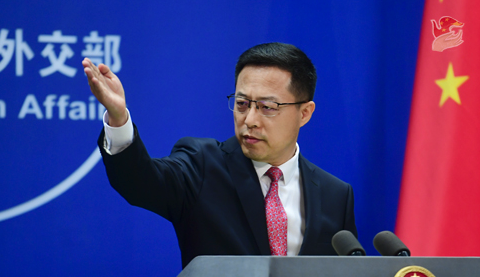 FM spokesperson Zhao Lijian delivered a characteristically robust response to the nuclear-powered submarine development. Source: FMPRC