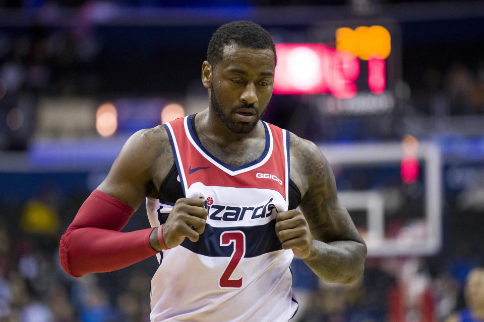 The Wizards are frustrated after a slow start. (AP Photo)