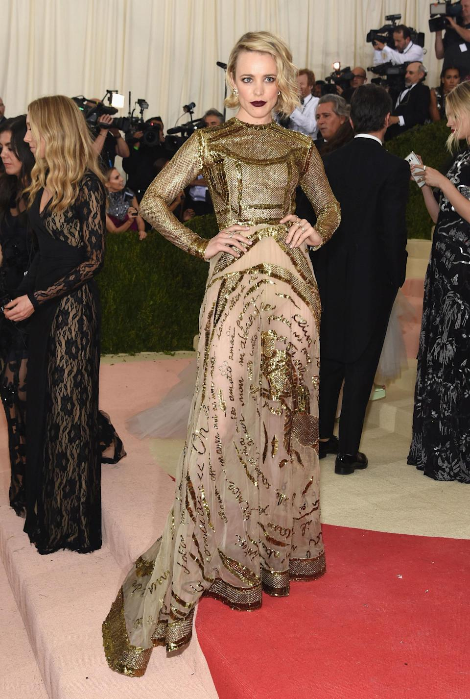 """<h1 class=""""title"""">Rachel McAdams in a Valentino Haute Couture dress and H.Stern jewelry</h1> <cite class=""""credit"""">Photo: Getty Images</cite>"""