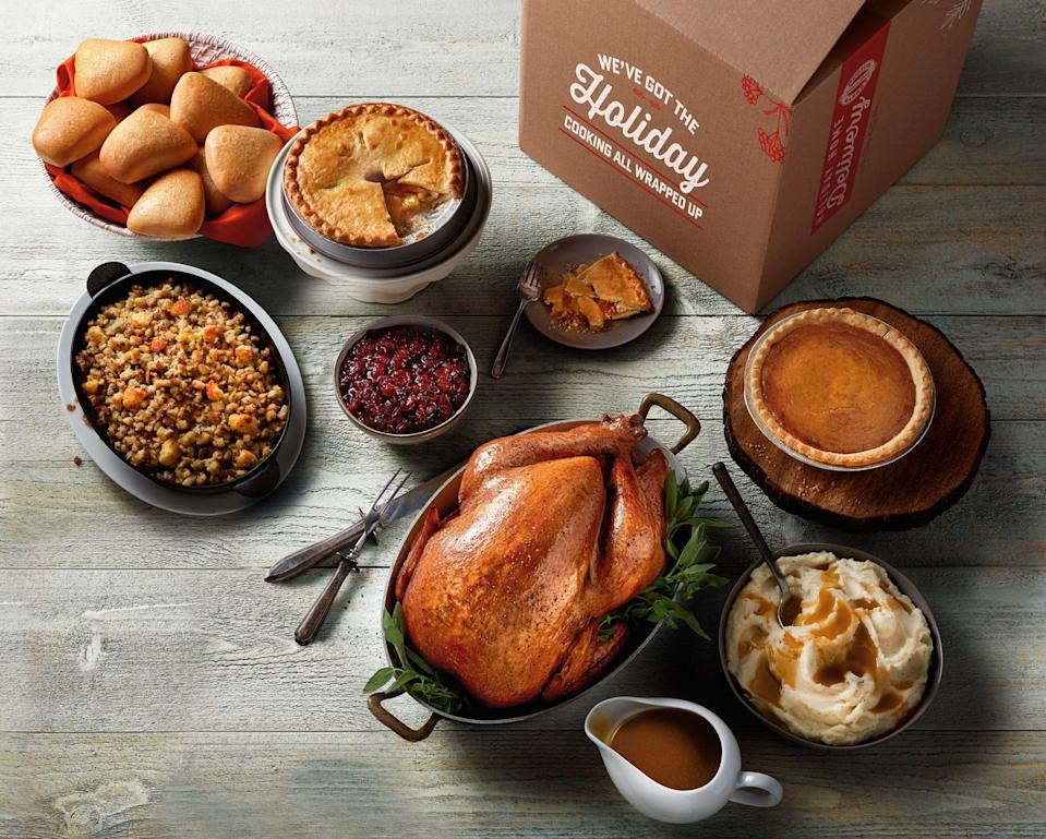 <p>On top of being open for dine-in eating on Thanksgiving day, Boston Market also offers a variety of pre-cooked spreads that you can eat at home — all you have to do is heat it up. Choose between an entire spread or mix and match your favorite side dishes. </p>