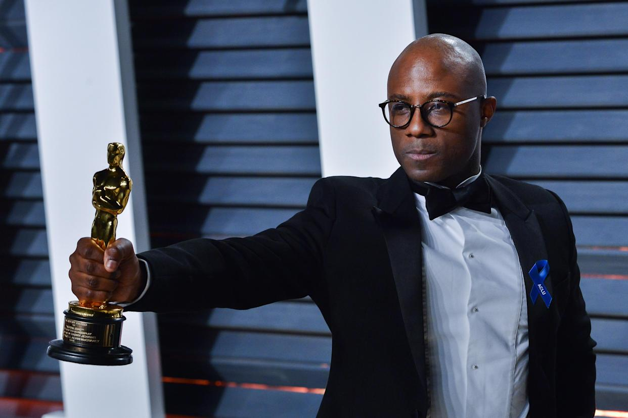 Barry Jenkins walking the red carpet at the 2017 Vanity Fair Oscar Party hosted by Graydon Carter held at the Wallis Annenberg Center for the Performing Arts in Beverly Hills on February 26, 2017. (Photo by Sthanlee Mirador) *** Please Use Credit from Credit Field ***
