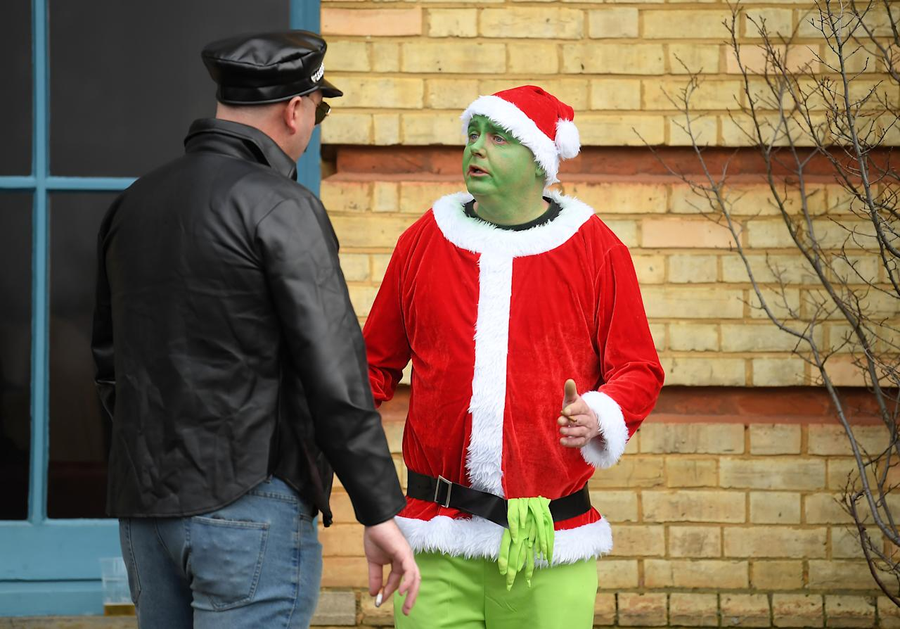 The Grinch also made a special guest appearance. (Photo by Alex Davidson/Getty Images)