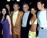 <p>Look at how young those X-Men were! Anna Paquin, Famke Janssen, Ian McKellen, Patrick Stewart, Halle Berry, and Hugh Jackman pose together at Ellis Island for the big premiere. <i>(Photo: Kevin Mazur/WireImage)</i></p>