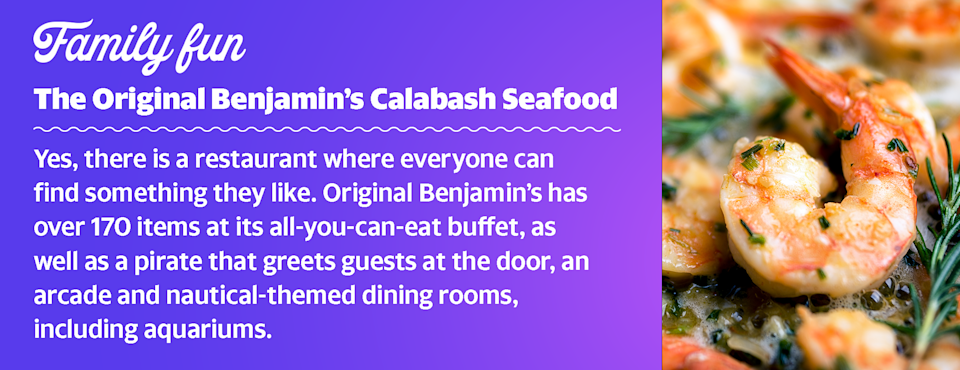 Come hungry and ready to eat all kinds of seafood, from shrimp to clams, at this all-you-can-eat buffet