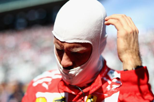Sebastian Vettel quit after four laps in Suzuka