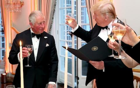 The Prince and The President both made short toasts - Credit: Chris Jackson - WPA Pool/Getty Images