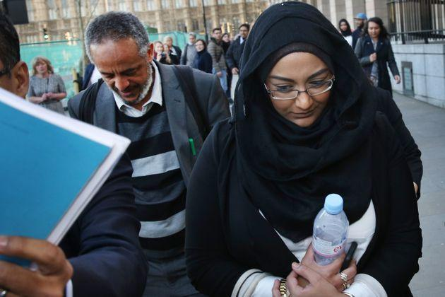 LONDON, ENGLAND - MARCH 10:  Sahima Begum (R), sister of Shamima Begum leaves Parliament with Abase Hussein (L) father of Amira Abase after attending the Home Affairs Select Committee on March 10, 2015 in London, England. Three teenagers from London have left their families and traveled to Syria to joint Islamic State fighters.  (Photo by Peter Macdiarmid/Getty Images) (Photo: Peter Macdiarmid via Getty Images)