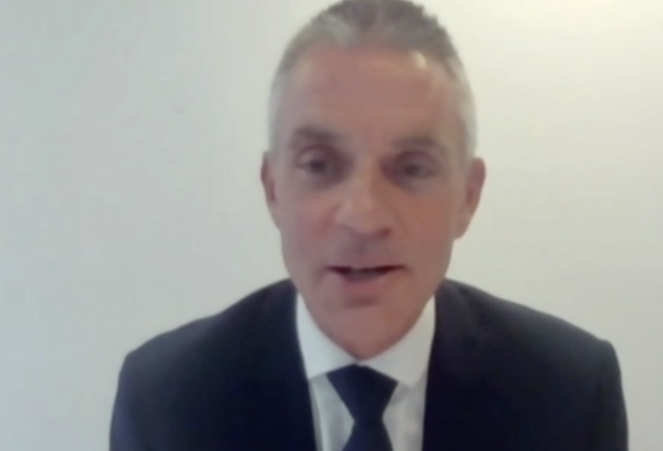 Tim Davie speaks to MPs at the digital, culture, media and sport committee on Tuesday. (Parliamentlive.tv)
