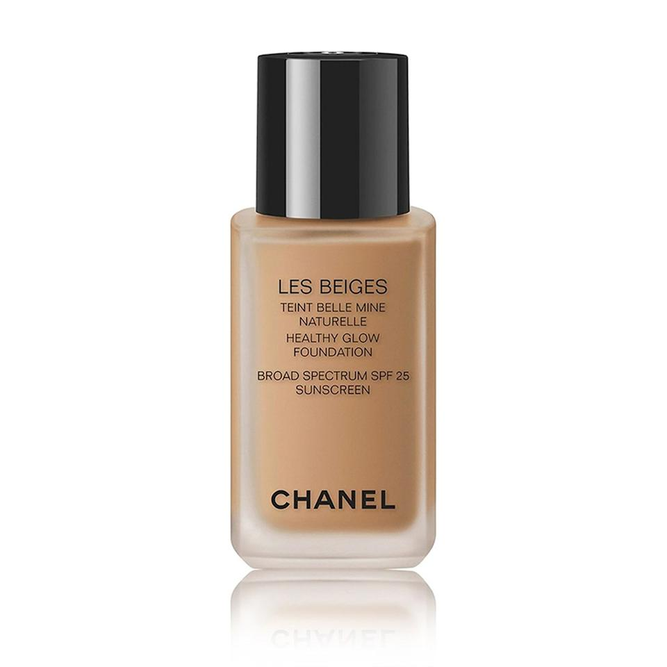 """$60, Nordstrom. <a href=""""https://shop.nordstrom.com/s/chanel-les-beiges-healthy-glow-foundation-broad-spectrum-spf-25-sunscreen/4285462/full?origin=keywordsearch-personalizedsort&breadcrumb=Home%2FAll%20Results&color=70"""">Get it now!</a>"""