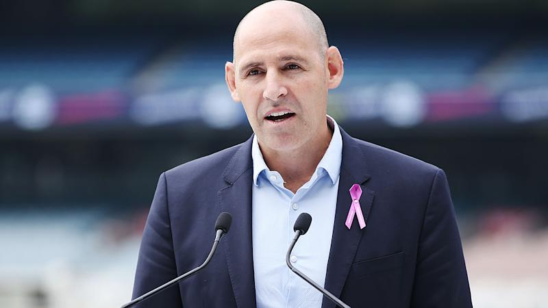 Channel 7 has placed new Cricket Australia boss Nick Hockley under intense pressure soon after taking the job. (Photo by Michael Dodge/Getty Images)