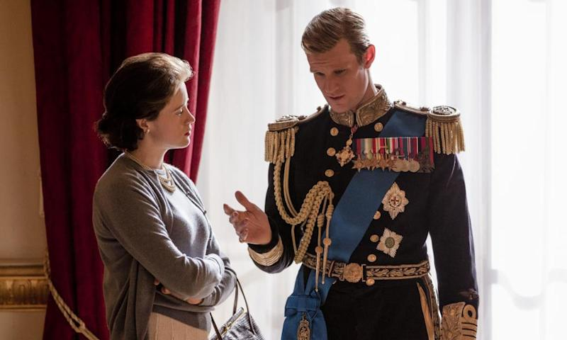 Claire Foy and Matt Smith in The Crown
