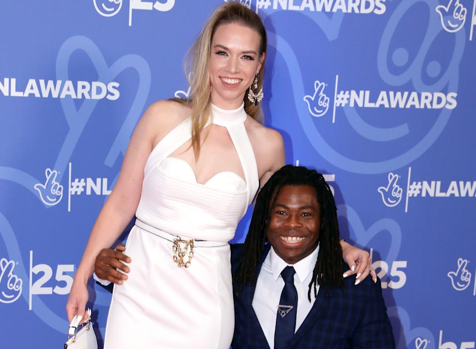 Ade Adepitan and his wife Elle Exxe married in 2018. (PA)