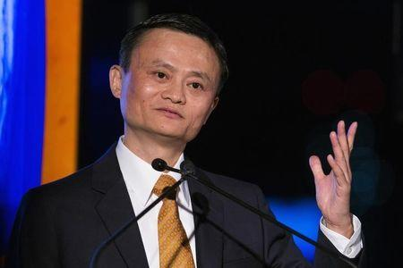 Alibaba Group Holding Ltd founder Jack Ma speaks after accepting the Game Changer of the Year award during the Asia Society's Game Changer Awards at United Nations headquarters in New York