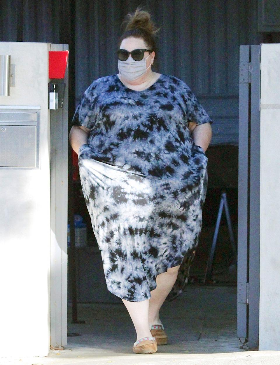 <p>Chrissy Metz steps out to run errands in a tie dye dress on Monday in L.A. </p>