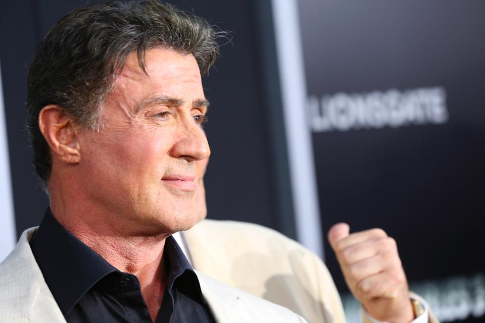 Sylvester Stallone arrives at the Lionsgate Los Angeles premiere of