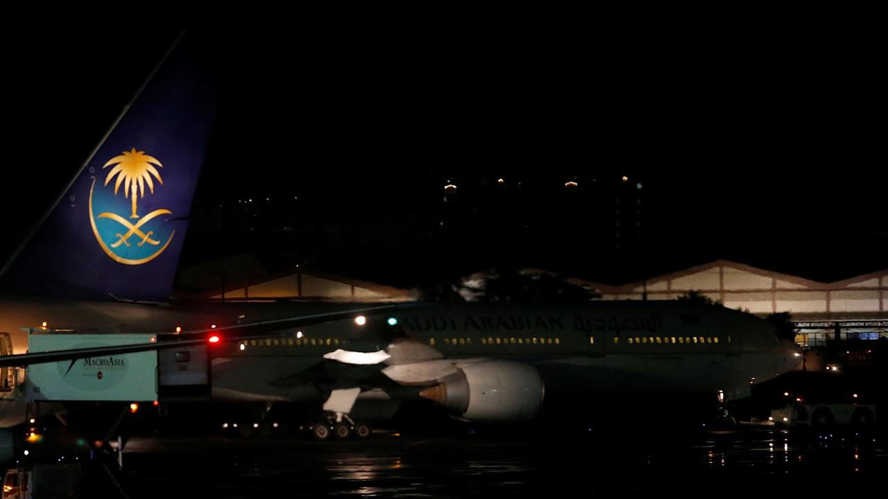 A Saudia Arabia Airlines passenger plane is towed after passengers have disembarked at the tarmac of Ninoy Aquino International airport in Pasay city, Metro Manila, Philippines September 20, 2016.    REUTERS/Erik De Castro