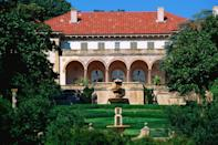"""<p>Today, the <a href=""""https://philbrook.org/"""" rel=""""nofollow noopener"""" target=""""_blank"""" data-ylk=""""slk:Philbrook Museum"""" class=""""link rapid-noclick-resp"""">Philbrook Museum</a> stands as a museum for modern and contemporary art and is a cultural institution in Tulsa, Oklahoma. In the 1930s, however, the artfully constructed building was home to oilman Waite Phillips and his wife, Genevieve. It was in 1938 that the couple gifted their 72-room mansion and its surrounding 23 acres to the city of Tulsa and asked that it be made into a center for the arts.</p>"""