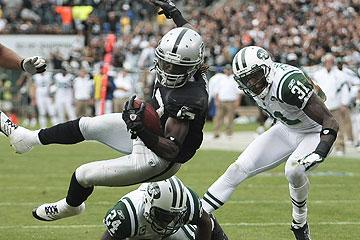 Rookie Denarius Moore has been a spark plug for the Raiders