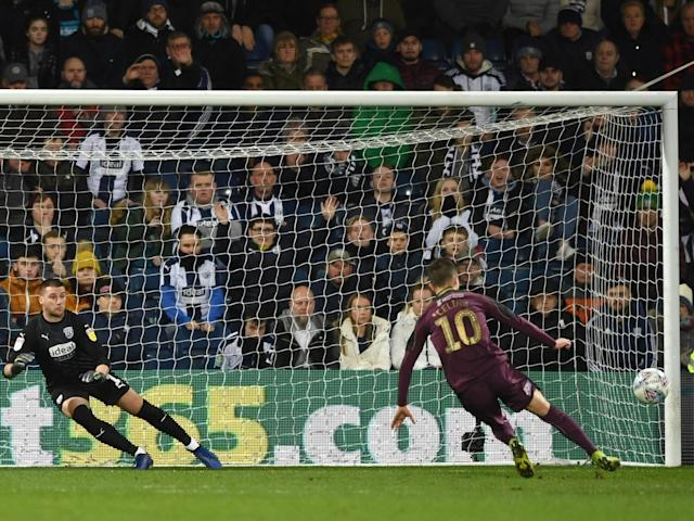 "The Panenka penalty is very on trend at the moment. Ball looping. Goalkeeper despairing. Striker cantering into a nonchalant celebration. It looks great, and Lionel Messi and Sergio Aguero have both given us two walking tutorials in how to execute the skill in the Champions League this week.Bersant Celina clearly wasn't watching. The former Manchester City winger hasn't really left his mark on English football as of yet. After last night, he will never be forgotten.Swansea were going into half-time at the Hawthorns 1-0 down after Chris Brunt had put West Brom ahead.But the Swans won a penalty, and Celina stepped up to surely bring the visitors level on the stroke of half-time. His run up began with a Harry Kane-esque series of short steps before approaching the ball from an angle. This is a technique that put Panama away with consummate ease in Russia this summer. > ❌PENALTY MISS! > > 🙊Bersant Celina fluffs his lines in spectacular style. pic.twitter.com/fkXSRrJhJ4> > — Sky Sports Football (@SkyFootball) > > March 13, 2019What happened next was far from consummate. We could speculate over whether West Brom are a sterner prospect than Panama, but that still wouldn't excuse what Celina did next.Celina's version of the Panenka was a no-go. Mainly because his standing foot inadvertently became his striking foot. Did he slip? Was it just a lapse in concentration? Only the football gods know that one.West Brom went on to win 3-0 and pile more misery on Celina. He admitted after the game he'd made a big error.""I felt that was the key moment, I feel like I have cost the team and the game would have been different"" he said.Fortunately, Swansea are sat in 15th in the Championship, probably safe from relegation and certainly not pushing for promotion. If there was ever a time to make this kind of howler, this was probably it.Swansea will go into their massive cup tie with Manchester City on Saturday with a clean slate, renewed motivation, and presumably, a new penalty taker."