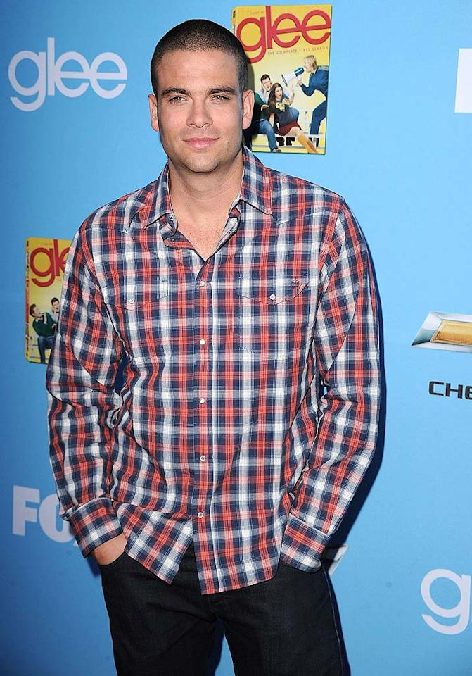 "Mark Salling, who portrays Puck, dressed down for the soiree in jeans and a plaid shirt. Steve Granitz/<a href=""http://www.wireimage.com"" target=""new"">WireImage.com</a> - September 7, 2010"