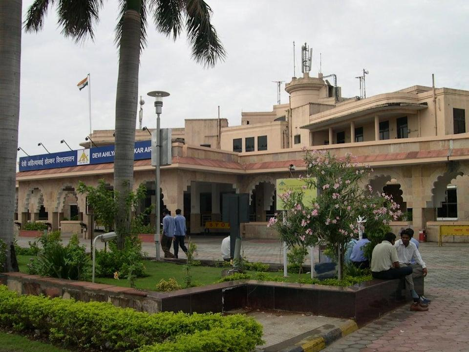 File image: The woman was eventually asked to leave the remains with a friend at Indore's Devi Ahilyabai Holkar Airport (pictured) (Cpbaherwani/Wikimedia)