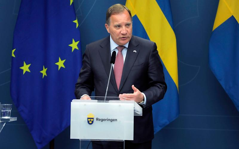Sweden's Prime Minister, Stefan Lofven, has been sharply criticised - Soren Andersson/TT News Agency via AP