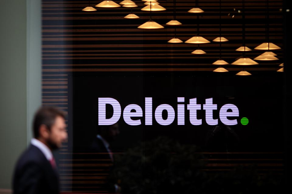 The Deloitte offices stand in 2 New Square on October 2, 2018 in London, England.
