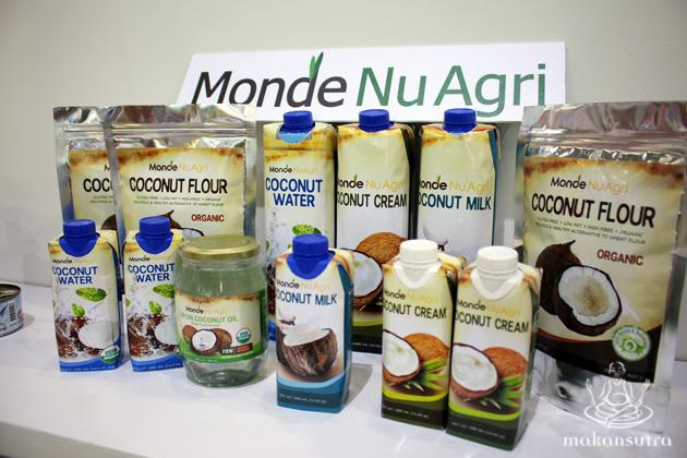Organic coconut products from Monde Nu Agri