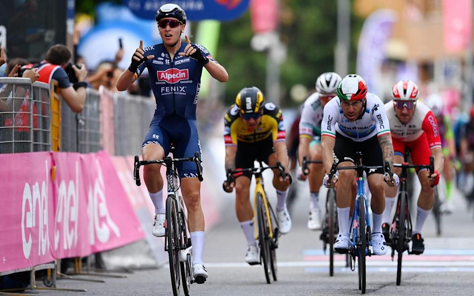 Tim Merlier - Giro d'Italia 2021: Tim Merlier sprints to victory on stage two as Filippo Ganna retains pink jersey - GETTY IMAGES