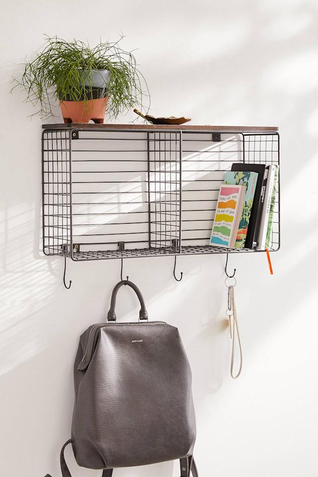 """<p>Get this <a href=""""https://www.popsugar.com/buy/Metal-Hook-Wall-Shelf-548928?p_name=Metal%20Hook%20Wall%20Shelf&retailer=urbanoutfitters.com&pid=548928&price=79&evar1=casa%3Auk&evar9=47214927&evar98=https%3A%2F%2Fwww.popsugar.com%2Fhome%2Fphoto-gallery%2F47214927%2Fimage%2F47217532%2FMetal-Hook-Wall-Shelf&list1=shopping%2Corganization%2Capartments%2Csmall%20space%20living%2Chome%20organization%2Chome%20shopping&prop13=api&pdata=1"""" rel=""""nofollow"""" data-shoppable-link=""""1"""" target=""""_blank"""" class=""""ga-track"""" data-ga-category=""""Related"""" data-ga-label=""""https://www.urbanoutfitters.com/shop/metal-hook-wall-shelf?category=shelving&amp;color=020&amp;type=REGULAR"""" data-ga-action=""""In-Line Links"""">Metal Hook Wall Shelf</a> ($79) for your entryway.</p>"""