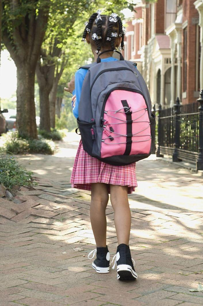 """<p>You don't need to buy a <a href=""""https://www.womansday.com/life/g3120/back-to-school-backpacks/"""" rel=""""nofollow noopener"""" target=""""_blank"""" data-ylk=""""slk:new backpack"""" class=""""link rapid-noclick-resp"""">new backpack</a> every year. Get crafty by ironing on colorful patterned patches inside their bag for extra storage. Or add reflective tape with animal and glitter designs to the side to make the bag feel brand new — and safe!</p>"""
