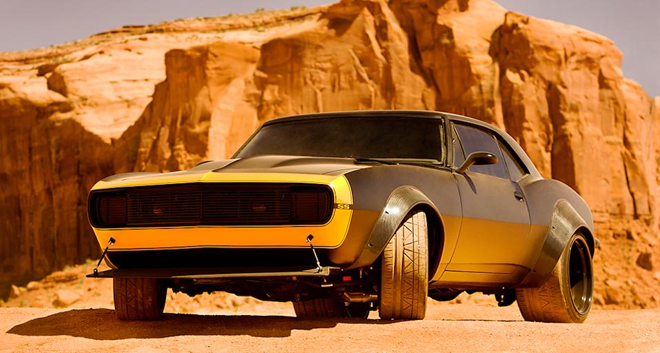Bumblebee gets a face-lift and a tougher paint job in the form of this 1967 modded-out vintage Chevy Camaro.