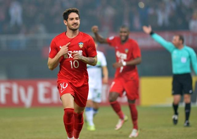 Former AC Milan star Alexandre Pato played for Tianjin Quanjian, who folded this week (AFP Photo/-)