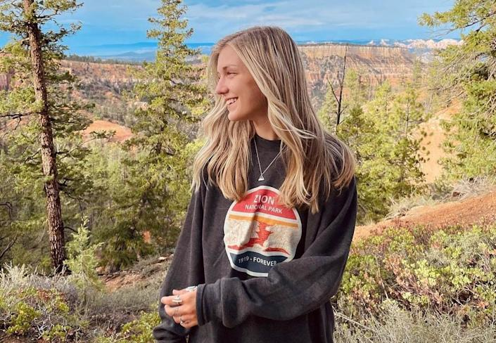Gabby Petito photographed at Bryce Canyon National Park on July 21, 2021.  / Credit: Gabby Petito/Instagram