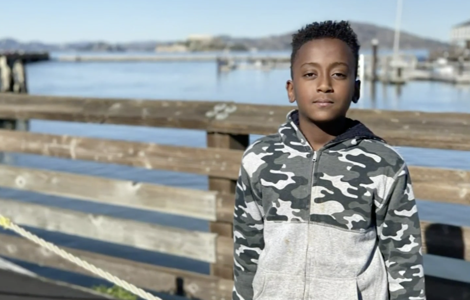 Joshua Haileyesus, pictured in front of a lake, was on life support after he took part in a TikTok challenge
