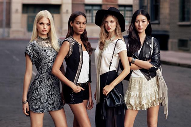 "Die Models Daphne Groeneveld, Joan Smalls, Lindsey Wixson und Liu Wen standen Pate für ""The New Icons Collection"" (Bild: H&M)"