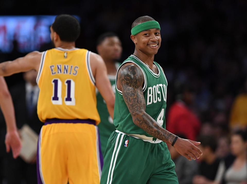 Isaiah Thomas is all smiles now that he's gotten the chance to be the superstar he always knew he was. (AP)