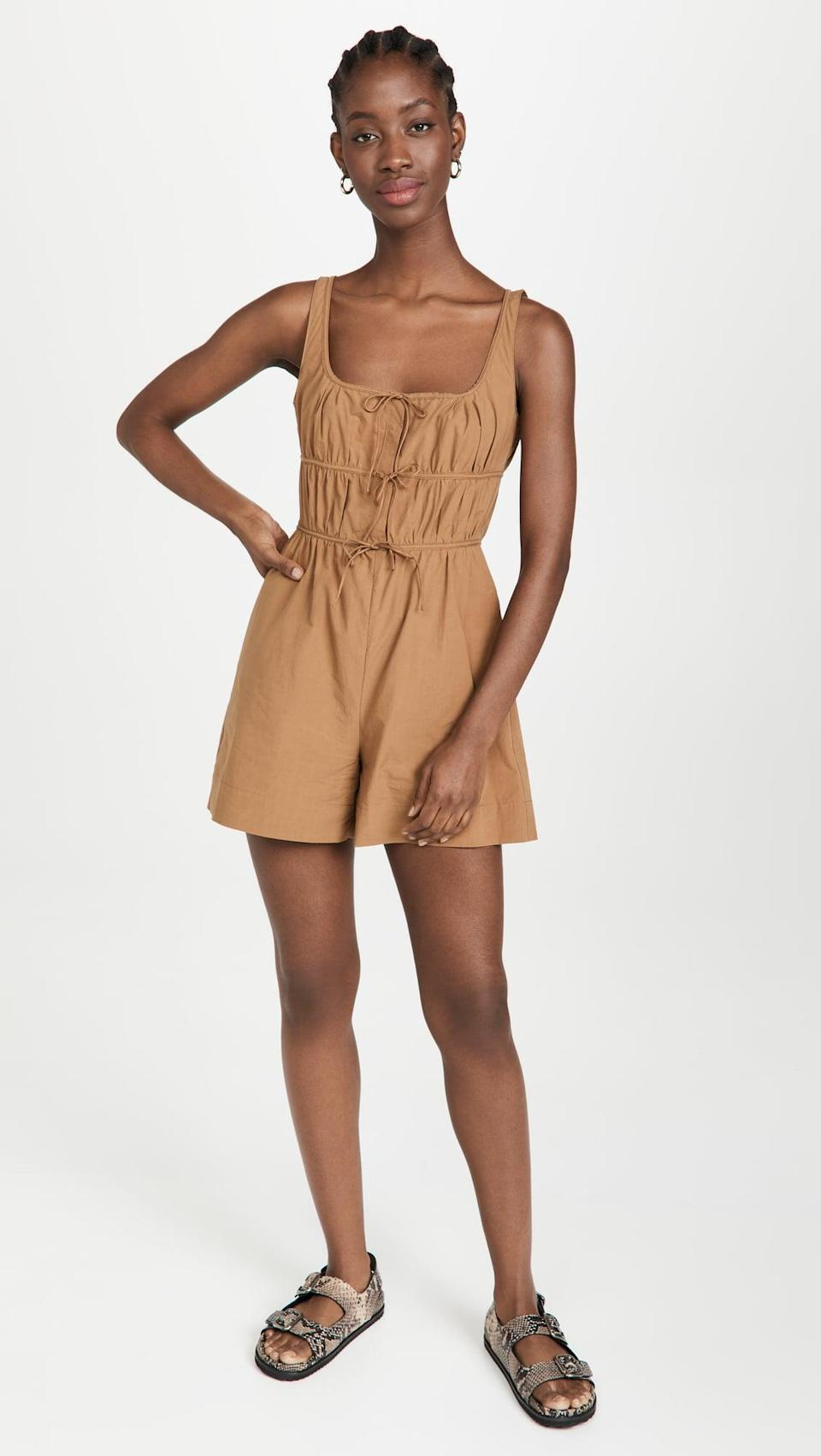 <p>We love the details on this cute <span>Rebecca Taylor Poplin Romper</span> ($526).</p>