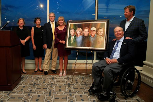 Retief Goosen, Billy Payne, Jan Stephenson, Peggy Kirk Bell and Dennis Walters were enshrined in the World Golf Hall of Fame.
