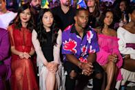 <p>Gemma Chan, Awkwafina, Victor Ctuz and Karrueche Tran attend the Prabal Gurung Spring 2019 fashion show during New York Fashion Week at Spring Studios on September 9, 2018 in New York City. (Photo: Michael Stewart/WireImage) </p>