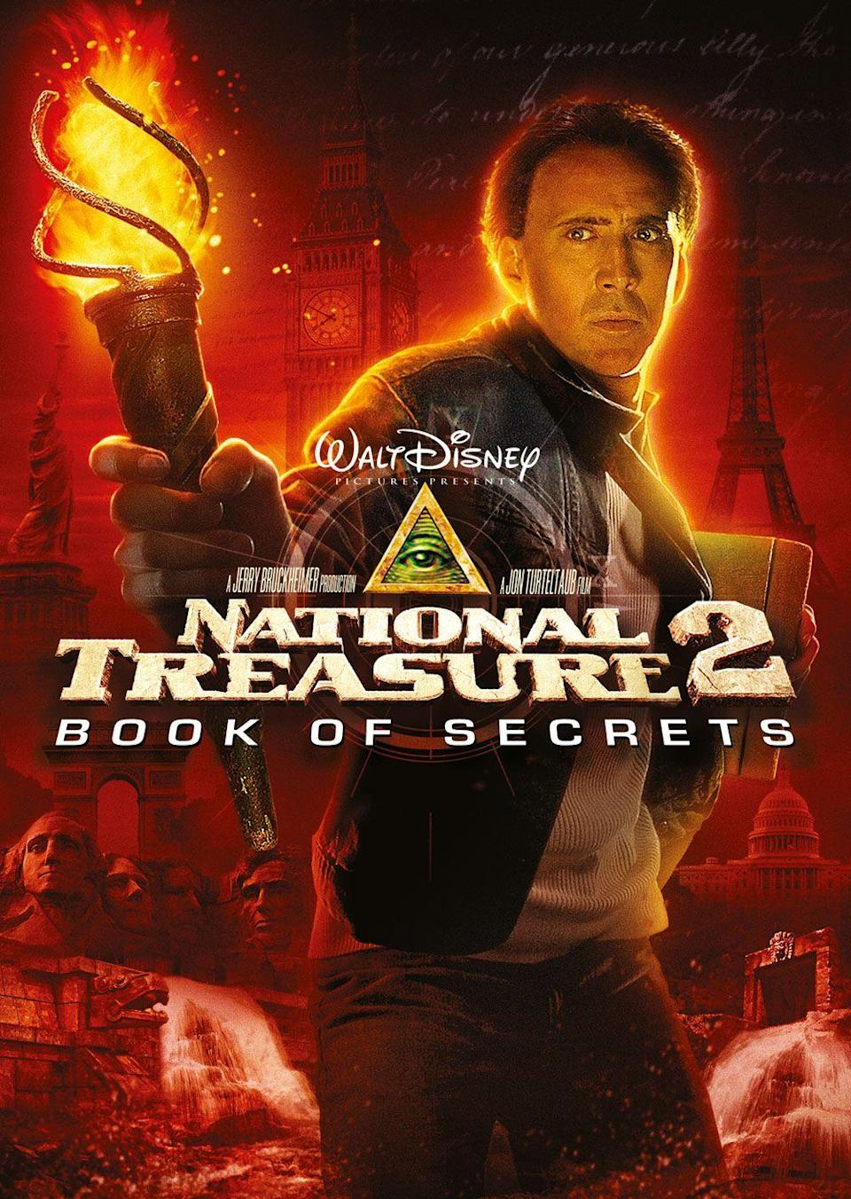"""<p>Make it a double feature by watching <em>National Treasure</em> and <em>National Treasure: Book of Secrets</em>. In the sequel, Ben sets out to find a lost city of gold and prove that his ancestor was not responsible for the tragic death of Abraham Lincoln. </p><p><a class=""""link rapid-noclick-resp"""" href=""""https://go.redirectingat.com?id=74968X1596630&url=https%3A%2F%2Fwww.disneyplus.com%2Fmovies%2Fnational-treasure-book-of-secrets%2F4KxFDxqZdOHA&sref=https%3A%2F%2Fwww.womansday.com%2Flife%2Fentertainment%2Fg36156094%2F4th-of-july-movies%2F"""" rel=""""nofollow noopener"""" target=""""_blank"""" data-ylk=""""slk:STREAM NOW"""">STREAM NOW</a><br></p>"""
